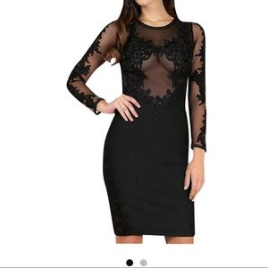 NWT WOW COUTURE LACE BANDAGE DRESS